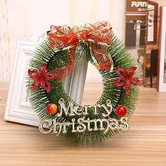 ZXPAG-WeihnachtstRkranz-Aussen-Weihnachten-Kranz-Deko-Kiefernnadelkranz-PVC-fr-Deko-Weihnachten-Advent-Trkranz
