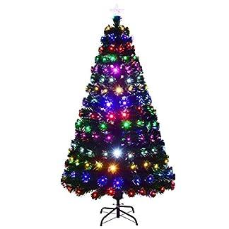 COSTWAY-LED-Weihnachtsbaum-knstlicher-Tannenbaum-Christbaum-beleuchtet-150180210cm-grn-mit-Glasfaser-Farbwechsel
