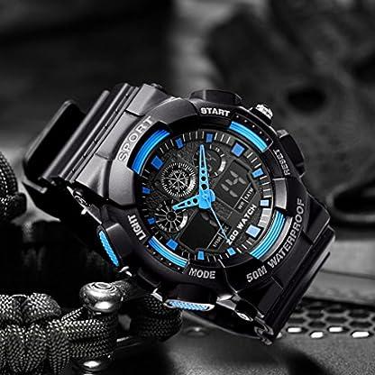 CIVO-Herren-Jungen-Digitaluhr-Militr-Chronographen-Multifunktions-Sportuhr-Wecker-50M-Wasserdicht-LED-Stoppuhr-Alarm-Datum-Kalender-Mnner-Business-Casual-Geschfts-Uhren-Gummi-Uhr-fr-Herren-Schwarz