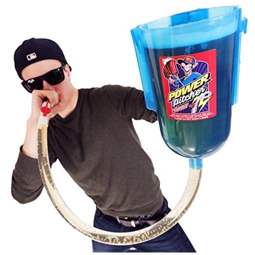 POWER-PITCHER-Bier-Bong-Premium-Party-Pitcher-TrinkTrichter-2-Liter-mit-Griff-inkl-Mundstck-beer-bong
