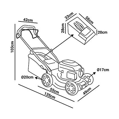 GREENCUT-GLM690SX-selbstfahrender-Rasenmher-Benzinmotor-rot-40-cm-139-cm3-5-PS