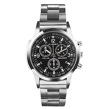 Uhren-Herrenuhren-KUXIEN-Herren-Business-Casual-Dress-Sport-Armbanduhr-klassische-Edelstahlgehuse-Armbanduhr