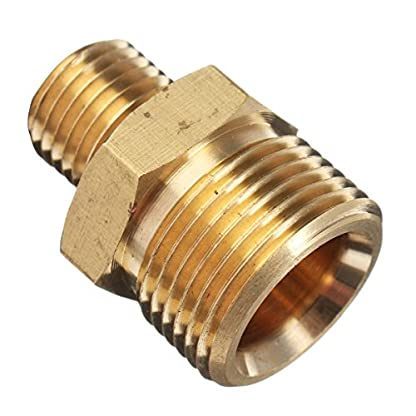 JINHUGU-M22-stecker-auf-14-stecker-adapter-messing-hochdruckreiniger-schlauch-schnellkupplung-fitting-fr-karcher-New