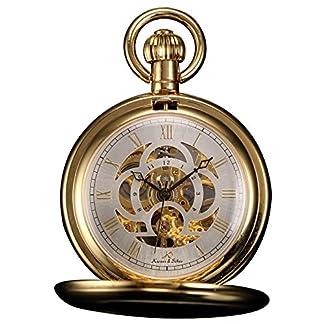 KS-Taschenuhr-mit-Kette-Herren-Mechanisch-Skelett-Steampunk-Vintage-Geschenkbox-Gold-Silber-Schwarz