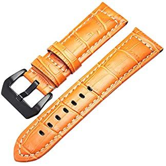 Echtes-Leder-uhrenarmbnder-mnner-Dicke-uhrenarmband-Armband-22mm-24mm-braun-schwarz-armbanduhren-grtelschnalle-fr-panerai