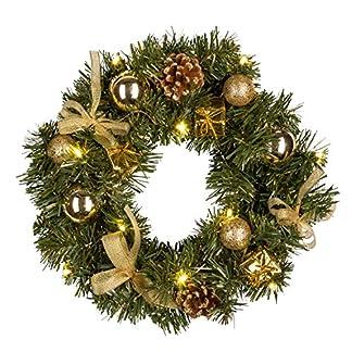 Idena-30139-Weihnachtskranz-mit-10-LED-warm-wei-mit-6-Stunden-Timer-Funktion-Batterie-betrieben-fr-Deko-Weihnachten-Advent-als-Stimmungslicht-Trkranz-ca-30-cm