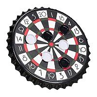 Relaxdays-Kronkorken-Dartscheibe-magnetische-Zielscheibe-Dart-Trinkspiel-mit-6-Kronkorken-Partyspiel–25-cm-schwarz