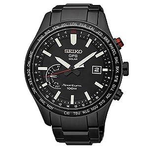 Seiko-Herren-Analog-Solar-Uhr-mit-Edelstahl-Armband-SSF005J1