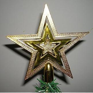 andensoner-1-Stck-Christbaumspitze-Glitzer-Stern-fr-Weihnachtsbaum-Dekoration-Golden