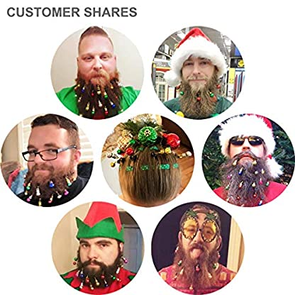 16-Stck-Bartschmuck-Weihnachten-Bart-Kugeln-Weihnachtsmann-Clipverschluss-12-Bunte-Weihnachtskugeln-und-4-Frhlich-Klingelnde-Glckchen