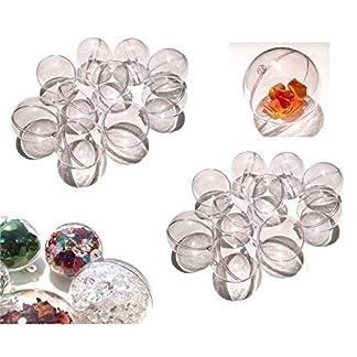 CRYSTAL-KING-20-Stck-Acryl-Kugeln-9-cm-gro-Bastel-Kugeln-Acrylkugel-Transparent-teilbar-Durchsichtig-Kunstoff-Kugel-Acryl-Acrylic-Ball-Acrylkugeln-90mm
