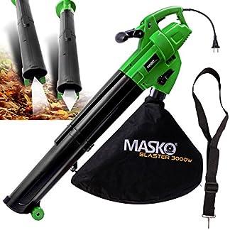MASKO-Elektro-Laubsauger-Elektrischer-3in1-Laubblser-Laubhcksler-3000W-45L