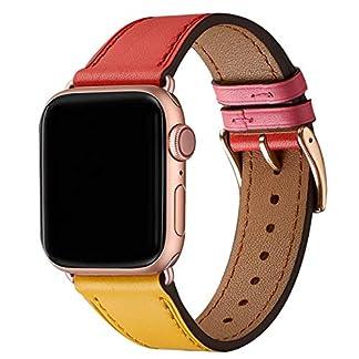 WFEAGL-Kompatibel-fr-Watch-Armband-Top-Grain-Lederband-Ersatzband-Kompatibel-fr-Watch