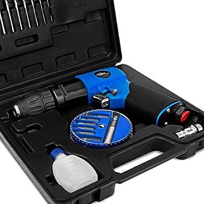 Deuba-Druckluft-Bohrmaschine-Set-20-tlg-Schnellspannbohrfutter-diverse-Bohrer-Bits-Koffer-Druckluftbohrer