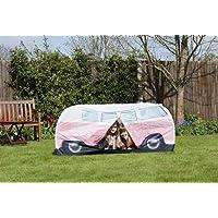 Spencer-and-Fleetwood-Ltd-VW-Bulli-Spiele-Wurfzelt-Pink-fr-Kinder