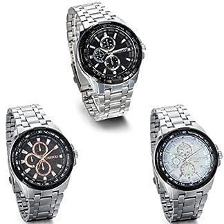 JewelryWe-Herren-Armbanduhr-Analog-Quarz-Klassische-Fashion-Business-Casual-Sport-Uhr-mit-Edelstal-Armband-Schwarz-Weiss-Zifferblatt-Silber-Rose-Gold-Gauge-Nadeln