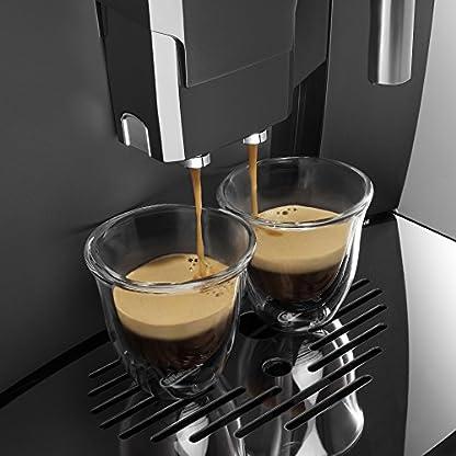 DeLonghi-Magnifica-ESAM-04110-B-Kaffeevollautomat-Direktwahltasten-und-Drehregler-Milchaufschumdse-Kegelmahlwerk-13-Stufen-Herausnehmbare-Brhgruppe-2-Tassen-Funktion