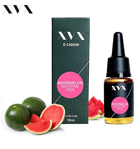 XVX E-Liquid  Wassermelone Geschmack  Elektronisches Liquid Für E-Zigarette  Elektronische Shisha Liquid  10ml Flasche  Nadelspitze  Präzise Befllung  Wähle Deinen Lifestyle  Neu Für 2016  Digitaler Rauch  Nikotinfrei  Tabakfrei