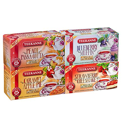 Teekanne-Frchtetee-Sweeteas-4er-Set-Strawberry-Cheesecake-Blueberry-Muffin-Caramel-Apple-Pie-Peach-Panna-Cotta-4x-405g-von-Teekanne