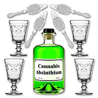 Cannabis-Absinthium-05l-55-vol-Alc-4x-Absinth-Glas-Versailles-200ml-4x-Absinth-Lffel-Antique