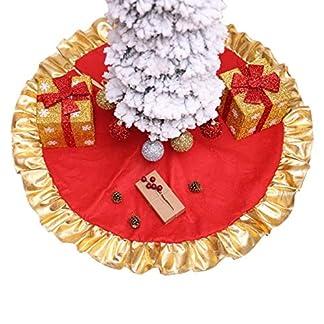 CHENZHAOL-Baumrock-DIY-Party-Weihnachten-Weihnachtsbaum-Rcke-Dekor-Ornamente-Wohnzimmer-Hause-Burgund-Traditionelle-Rote-Weie-Schneeflocken-Baum-Rock