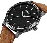 Herren-Uhren-Herren-Armbanduhr-mit-Edelstahl-Armband-Schwarz