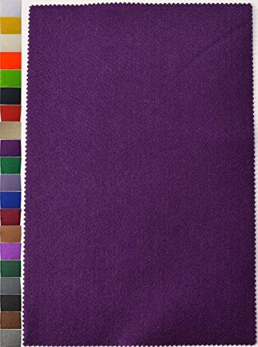 StoffBook 2MM DICKE UNIVERSELLE FILZPLATTE CA. 20CM X 30CM STOFF STOFFE D326 (violett)