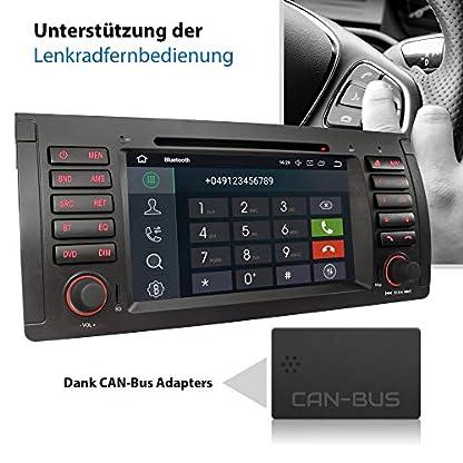 XOMAX-XM-71BA-Autoradio-mit-Android-81-passend-fr-BMW-E39-5er-M5-E53-X5-4Core-GPS-Navigation-DVD-CD-I-Support-WiFi-4G-DAB-OBD2-I-Bluetooth-7-Zoll18-cm-Touchscreen-USB-SD
