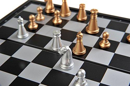 Quantum-Abacus-Magnetisches-Brettspiel-kompakte-Reisegre-Schach-magnetische-Spielsteine-Spielbrett-Zusammenklappbar-19cm-x-19cm-x-1cm-Mod-SC6618-DE