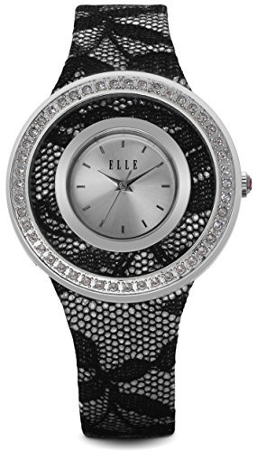 Elle-el20265s03-N–Armbanduhr-Lederband-Farbe-Silber