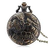 Herren-Taschenuhr-Vintage-Bronze-World-of-Warcraft-Steampunk-Taschenuhr-Geschenke-fr-Mnner