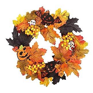 GZQ-Halloweenkranz-knstliche-Girlande-Herbst-Ahornbltter-Kranz-Requisiten-fr-Vordertr-Wand-Fenster-Weihnachtsdekoration