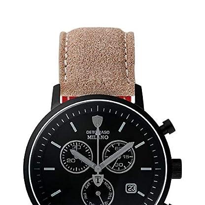 DETOMSAO-Milano-Herren-Armbanduhr-Chronograph-Aanalog-Quarz-schwarzes-Edelstahlgehuse-schwarzes-Ziffernblatt-Jetzt-mit-5-Jahre-Herstellergarantie