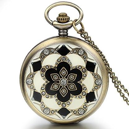 JewelryWe-Damen-Taschenuhr-Epoxid-Kirschblte-Kettenuhr-Analog-Quarz-Uhr-mit-Halskette-Kette-Umhngeuhr-Pocket-Watch-Muttertag-Geschenk-Bronze