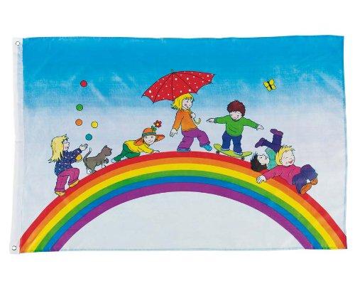 Goki-Flagge-Spielende-Kinder
