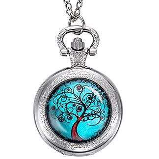 Life-Tree-Taschenuhr-Weihnachtsgeschenke-fr-Mutter-Braut-Brautjungfern-Hochzeit-Silber