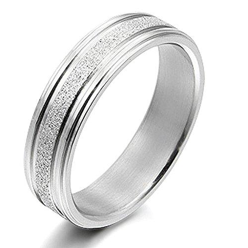 Gemini Damen-Ring Titan , Herren-Ring Titan , Freundschaftsringe , Hochzeitsringe , Eheringe, Farbe: Silber, Breite 6mm Größe 53 – 77