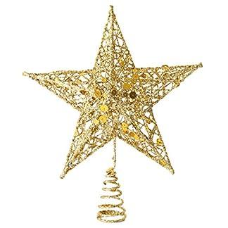 EOZY-Baumspitze-Stern-Weihnachtsbaum-Christbaumspitze-Glitzer-Weihnachten-Deko-20cm