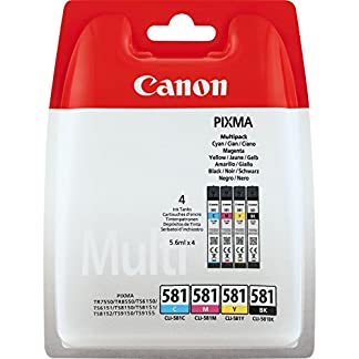 Canon-CLI-581-4-original-Tintenpatrone-Multipack-BKCMY-fr-Pixma-Inkjet-Drucker