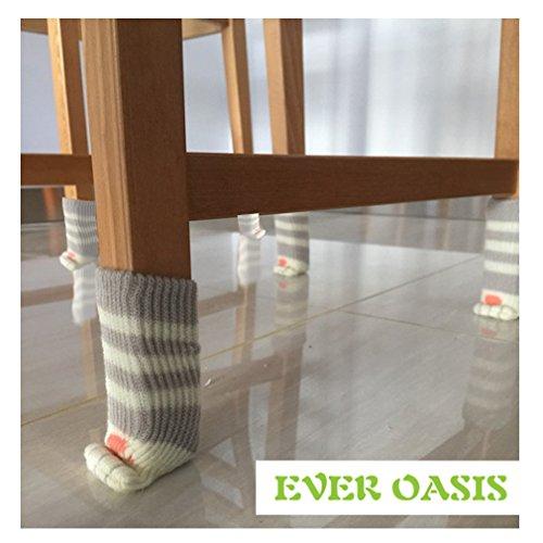 24 Socken (6 Spiele) Stühle mit Design Katze Beine, zuverlässiger Beschützer zu Boden, Beine aus Stühlen, Tischen e Poltrone. 4 verschiedene Farben 2 Farben nach dem Zufallsprinzip. Pacco 24 Einheiten