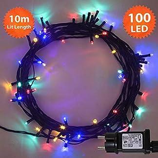 Lichterketten-mehrfarbig-grnes-Kabel