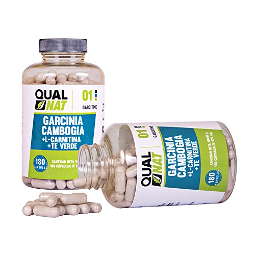 Garcinia Cambogia zum Abnehmen mit L-Carnitin und grünem Tee – Fettverbrennung mit schlankmachenden Bestandteilen – Steigert die sportliche Leistungsfähigkeit – 180 Garcinia Cambogia Kapseln