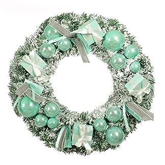 Weihnachtskranz-knstliche-Beflockte-Girlanden-Fallender-Schnee-Landschaft-Weihnachten-Krnze-Weihnachtsdekoration-Hochzeitsfeier-Ornament-mit-Geschenk-Tasche-Mint-Blue