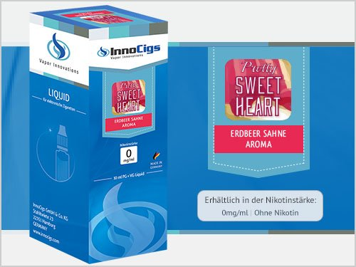 InnoCigs Pretty Sweetheart Liquid kein Nikotin, 10 ml