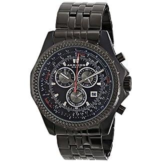 Akribos-XXIV-Herren-Ultimate-Analog-Display-Large-Chronograph-Armbanduhr-mit-Edelstahl-Armband