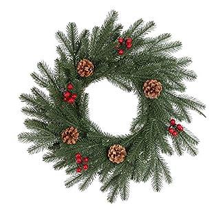 ZXPAG-Weihnachtliche-Krnze-Girlanden-Tannennadeln-Naturl-Tannenzapfen-Simulation-Kleine-Beeren-fr-Deko-Weihnachten-Advent-Trkranz