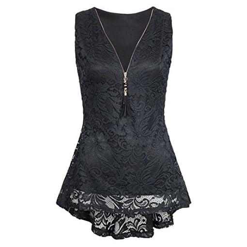 Damen-Sommer-Reiverschluss-Tank-Tops-DOLDOA-Frauen-Oberteile-T-Shirt