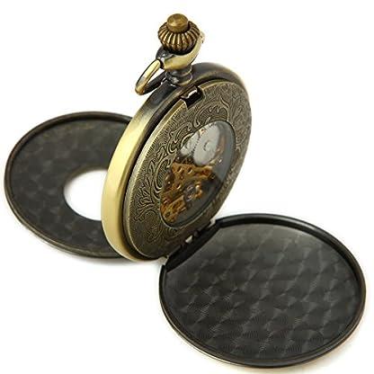 SEWOR-Kleid-Doppel-ffnen-mechanische-Hand-Wind-Taschenuhr-Band-Leder-Geschenk-Box