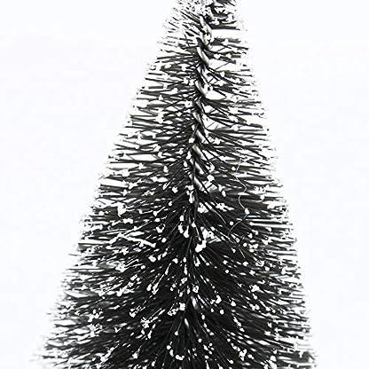 10-Stck-Knstliche-Mini-Weihnachtsbaum-Tisch-Dekorative-Baum-mit-Schnee-effekt-Weihnachten-Festival-Party-Dekoration-Geschenk