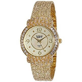 Burgi-Damen-Luxus-Analog-Quarz-Uhr-mit-Metall-Armband
